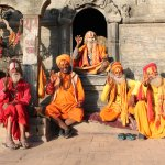 sadhus (second to the left asked me for American dollars for a pic)
