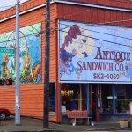 Storefront of Antique Sandwich Cafe