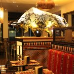 Just small part of the decorated restaurant