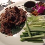 Aromatic crispy duck with pancakes. Very generous helping and plenty of pancakes - excellent