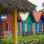 Some of the colorful accommodations at Compass Point