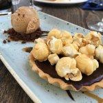 Chocolate Orange Tart and salted caramel icecream - love a tart!