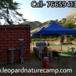 Leopard nature camp dining area