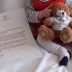 Clayton Teddy and special letter