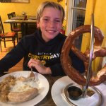 Stephen (12 years old), a Michigan native, visiting Heidi's Island Bistro in Ft. Myers, FL.