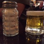 Worlds smallest beer...lol Actually this was a dessert type drink at the end of the meal..