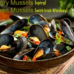 steamed mussels in 6 different flavors