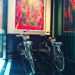 Bike Art in the Lobby