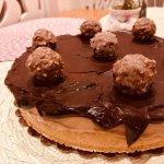 Cheesecake de Ferrero Rocher com Nutella