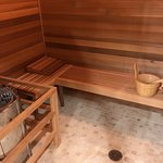 Sauna in locker room