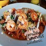 Chilaquiles con camarones en restaurant café lukumbé puerto vallarta restaurantes