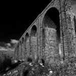 Viaduct in black & white.
