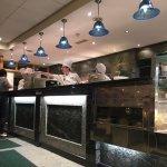 Open kitchen & busy chefs