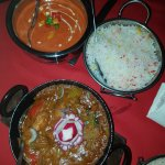 chicken tikka Masala (child's no spice) Fish Karahi, pilau rice