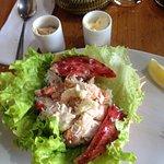 En uno de los tantos restaurants de Pto Natales, El Bote. Excelente...