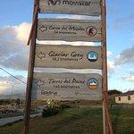 Directorio en carretera al llegar a Pto Natales desde el Weskar