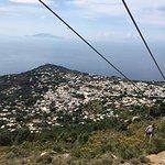 Chair lift in Capri