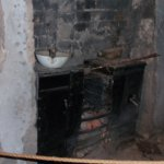 Fireplace in cave house
