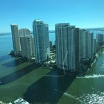High floor panoramic view of Biscayne Bay
