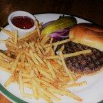 Bison Burger on a brioche bun
