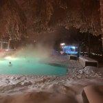 Steamy warm pool