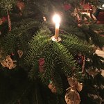 Christmas Tree with real candle lights!