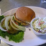 Crab cake Sandwich with Cole Slaw