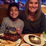 Mother and son steak and ribs combos...goody, goody!