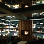 Our favorite spot - the Library - to unwind with a glass of wine from the bar.