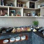 Frühstücksbuffet im Livingroom