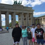 At Brandenburg Gate (photo courtesy of Jeremy Minsburg)