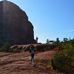 Trying to find our way up to the top of Bell Rock.