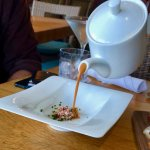 SPLASHES, Laguna Beach, CA!  TABLESIDE Lobster Bisque (Lobster Salad & Chives)=$18