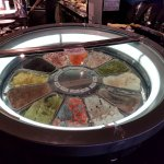 A spinning ice cream display
