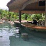 Swim up bar in the hot springs/pool