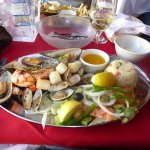 Scallops. clams, oysters, shrimp, lobster