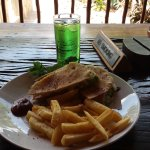 This is what I had for lunch, chicken wrap with chips and a colddrink