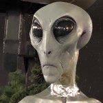 Representation of an alien head