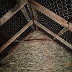 inside roofing, gunny sack material
