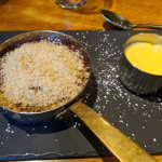 Apple and blackberry crumble - looks can be deceiving.