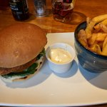 Buttermilk & rosemary chicken burger - think hard goujons instead :(