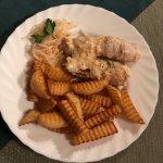 картофель фри и вяземские колбаски