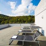 Panorama-Terrasse Wellnessbereich