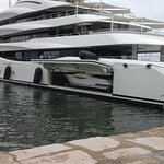 Yacht at the port