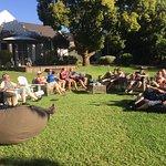 Relaxen nach der Tour im 4-heaven Garten
