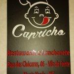 Cartão Visita de nosso Restaurante Capricho