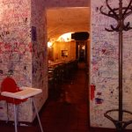 U Tri Zvonku - Interior with customer graffiti on walls