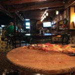 The bar at Cafe Viejo, and my delicious vanishing pizza!