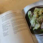 Cucumber salad with smashed garlic and ginger
