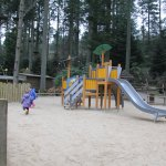Mini trek and play areas near lake